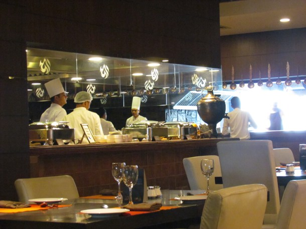 A peep into the open kitchen