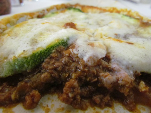 what lies beneath - a peep inside Moussaka with lamb mince