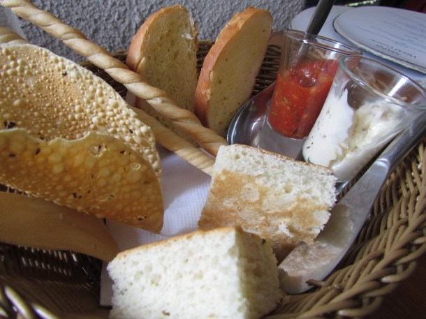 complimentary Bread basket