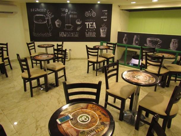 Top floor cafe area