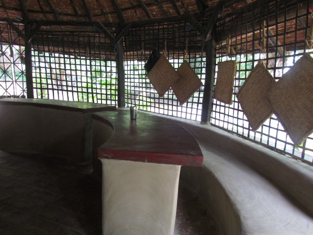 A view from inside the canteen