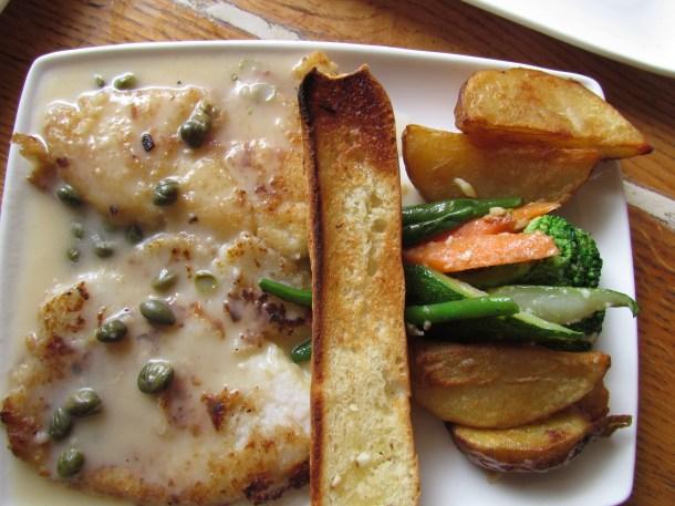 pan seared fish in lemon butter, caper, sauce