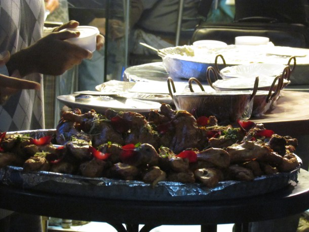 Food displayed outside the shop