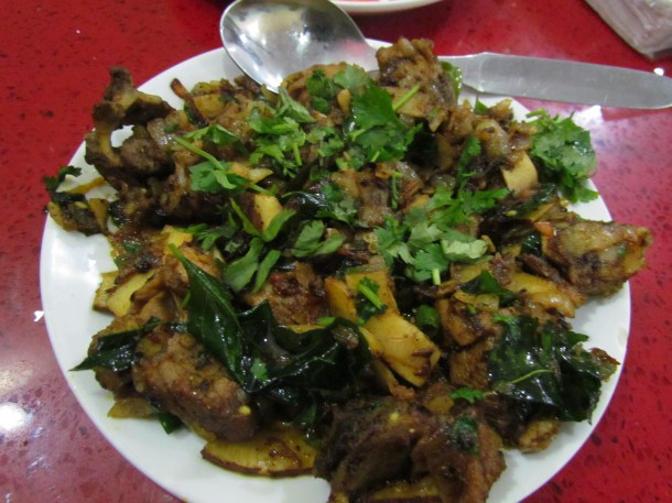 mutton coconut fry