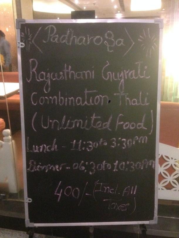 board utside the restaurant