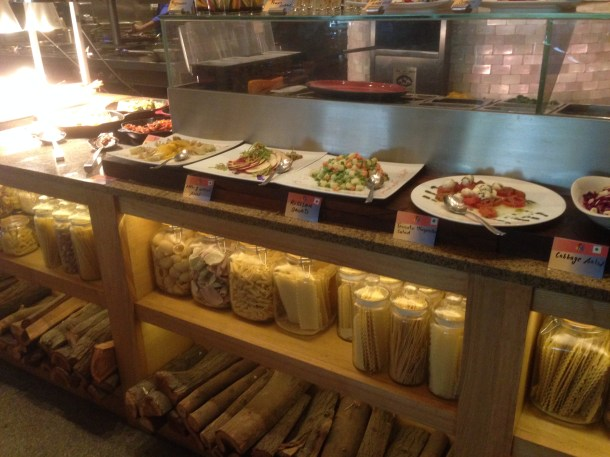 A view of the buffet counter