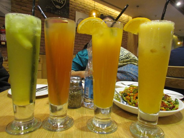 our 4 drinks.
