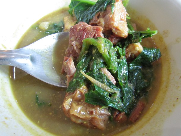 Pork in lai shak