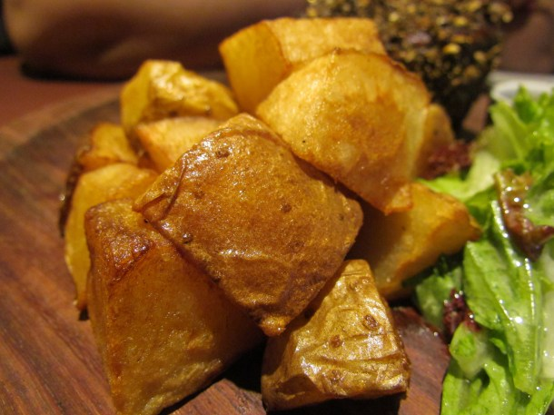 fries with Peppercorn steak Tenderloin
