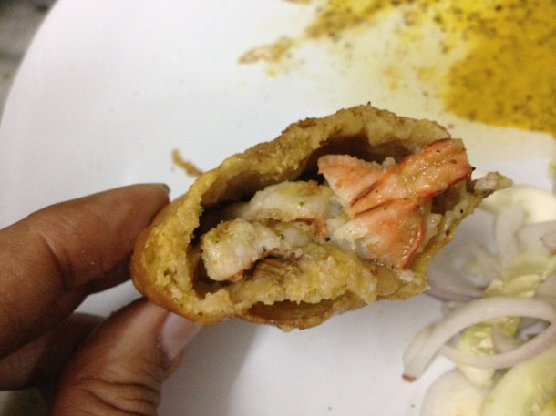 inside Prawn cutlet