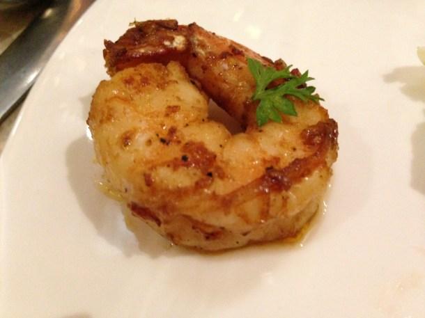 Grilled Garlic prawn tossed in garlic