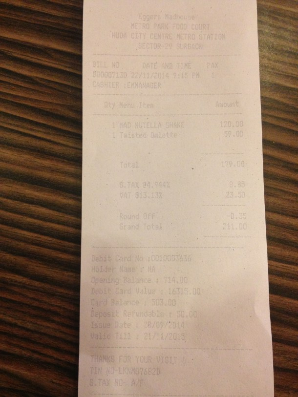 receipt 1- proof of payment