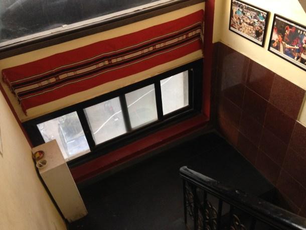 more framed photos along the staircase