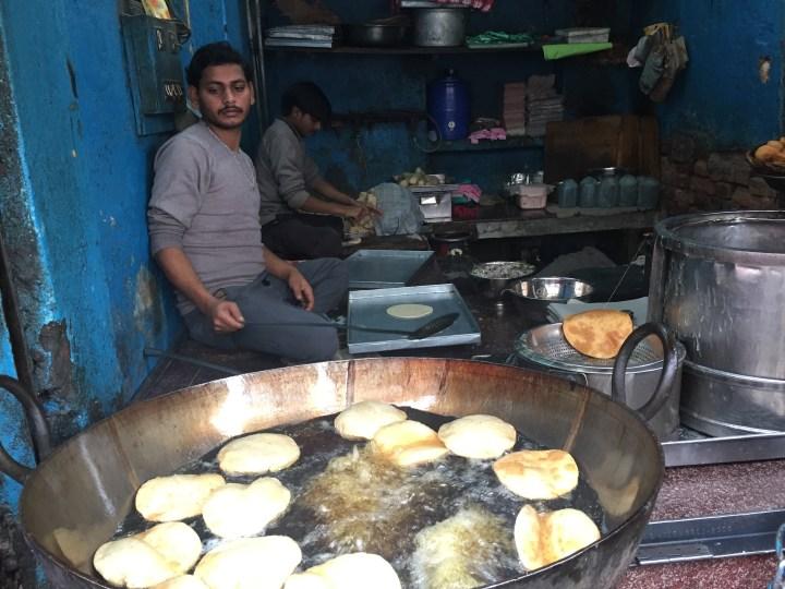 pooris being made