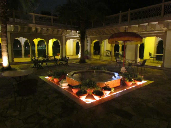 courtyard outside the restaurant