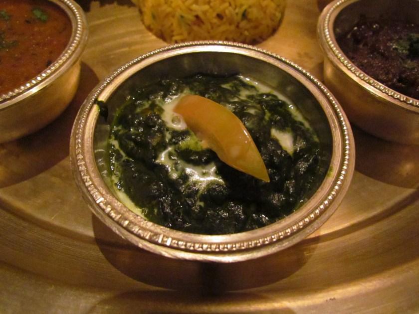 Nepali saag dish