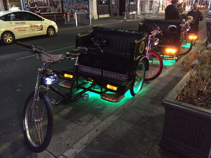 cycle rickshaws at Adelaide