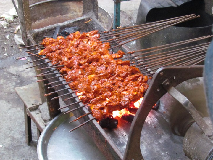 marinated meats on the sigri - making of the YUMM kababs