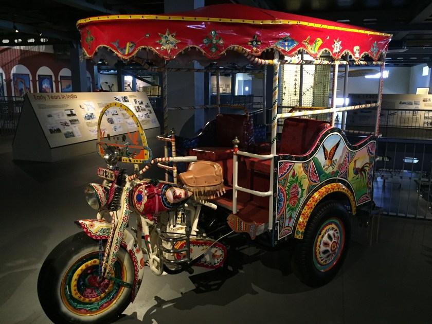 A beautiful Motor rickshaw (motor bike turned into a carriage)
