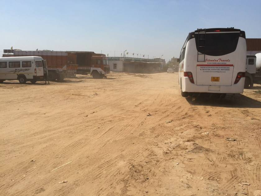 A view of the dhaba from the road