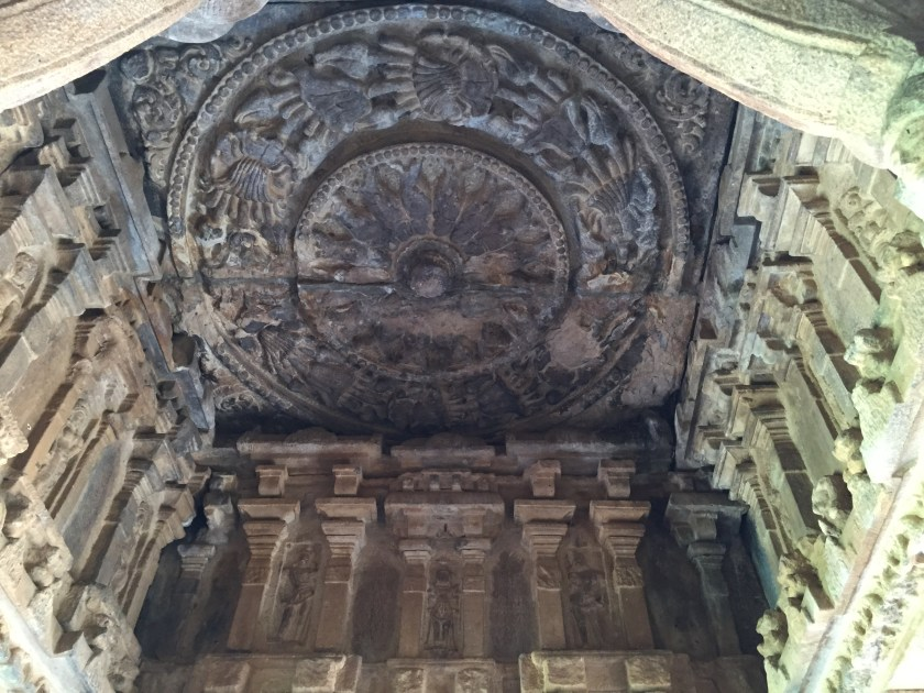 intricate designs on the walls & ceiling