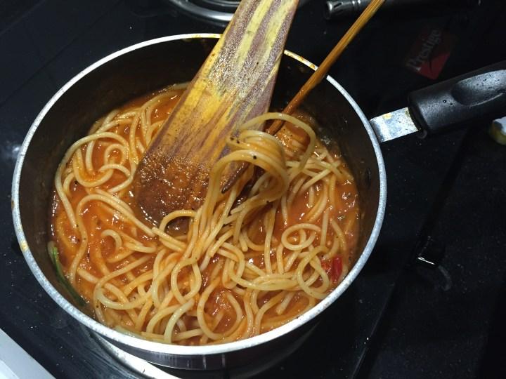 cooking in progress