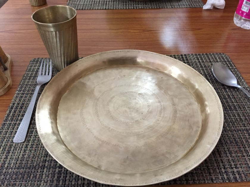 heavy hand made glasses & plates made of  bell metal.