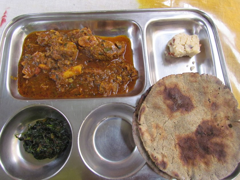 Matka mutton with bajray ka roti