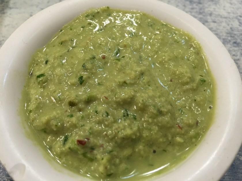green chutney with Kothimbir vadi
