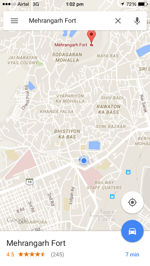 google map of Shaheeni hotel