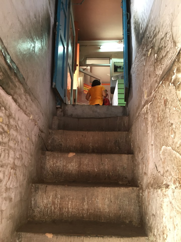 staircase to restaurant