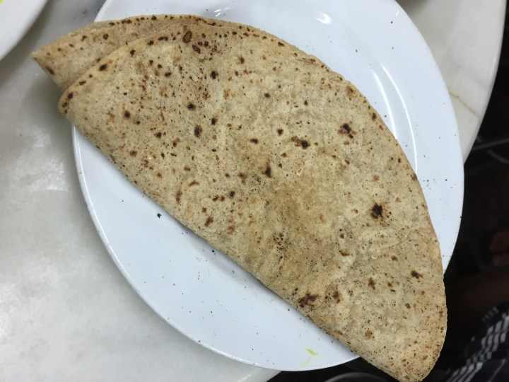 nice and soft wrm freshly made roti with which we had keema