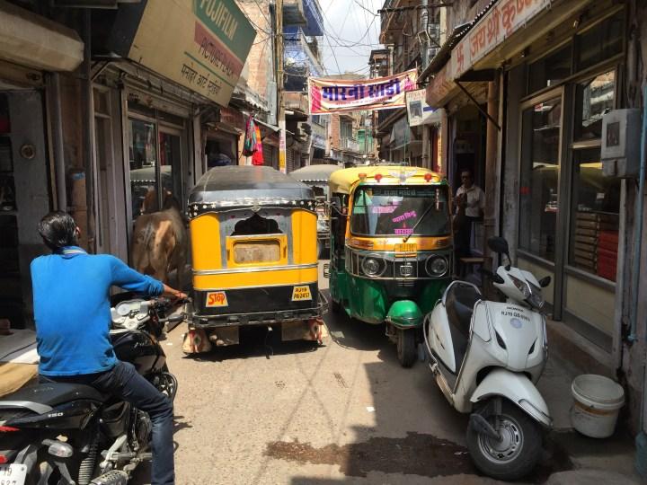 Narrow lane outside the shop