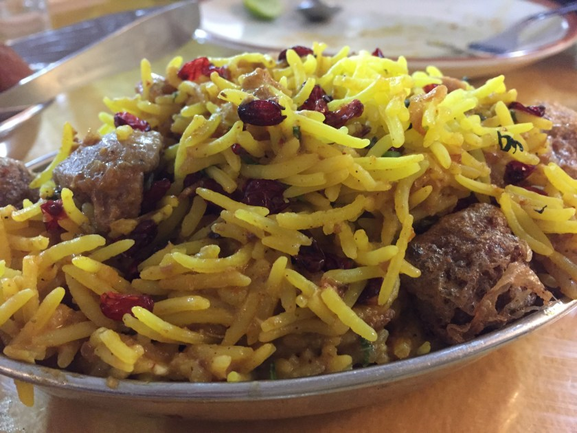 Mutton berry pulao