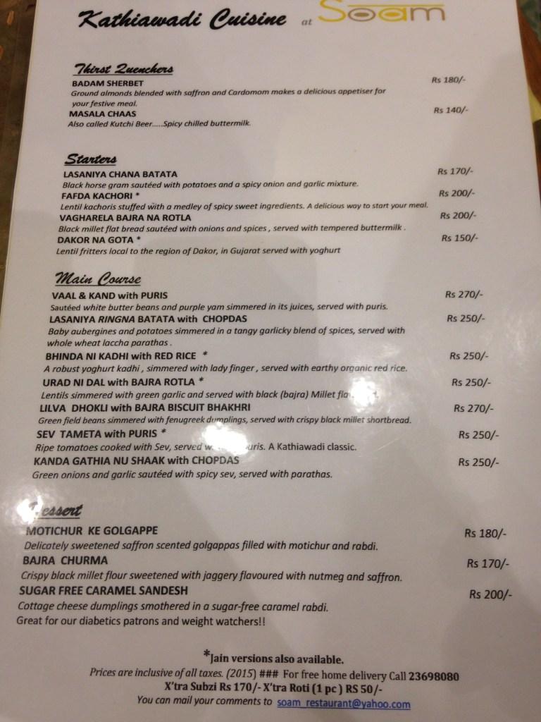 Kathiawadi food festival menu