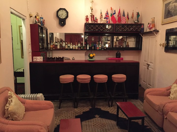 The Bar adjoining the room where tea was served