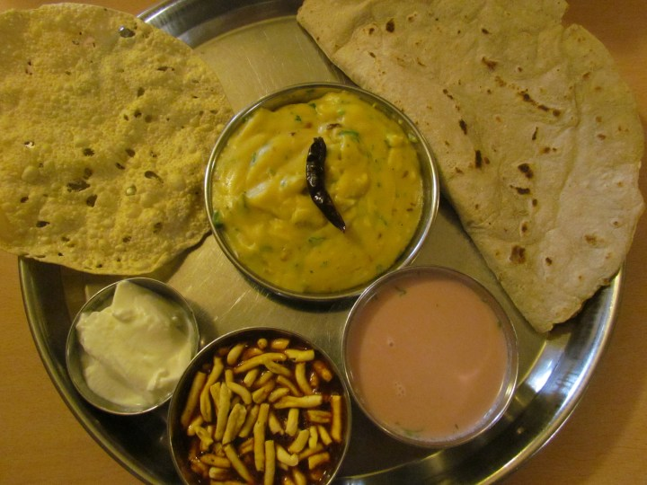 Pithla Bhakhri Meal