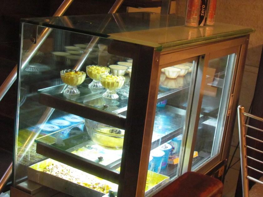 sweet counter inside the restaurant