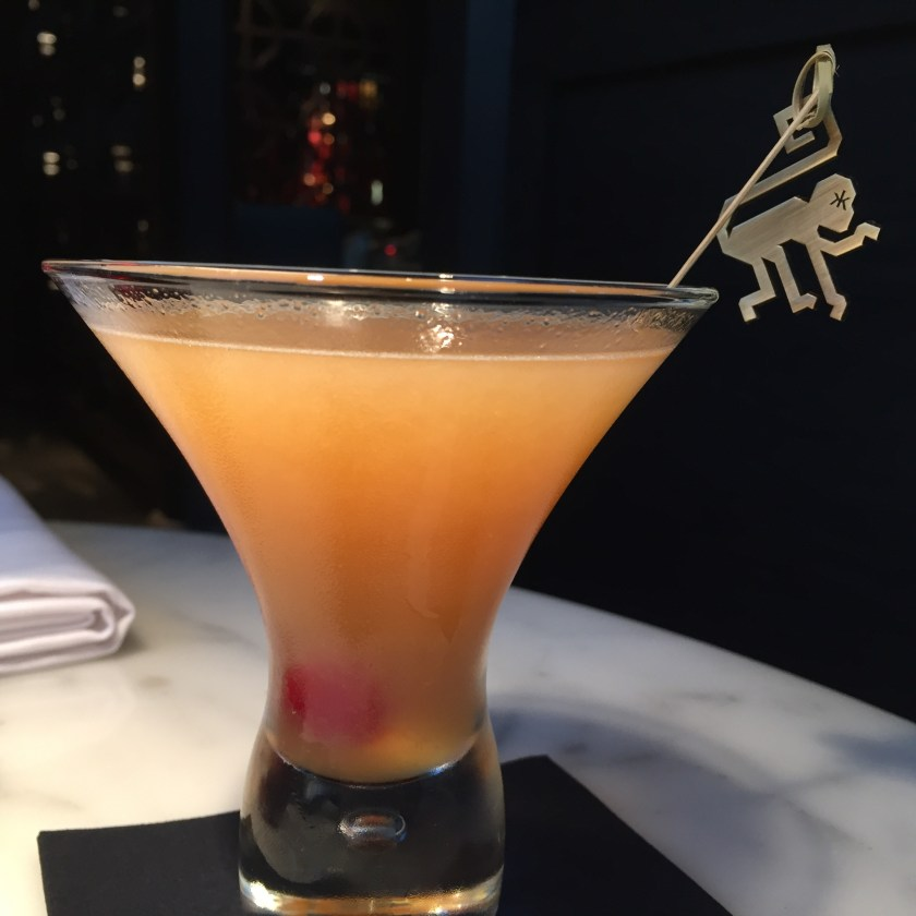 look at the monkey on the stirrer. Hakkasan logo in its eyes