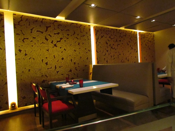 A part of the restaurant