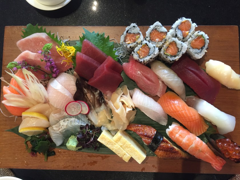 The Sushi & Sashimi platter