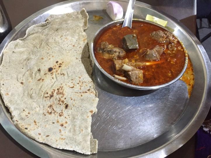 bhakri & curry