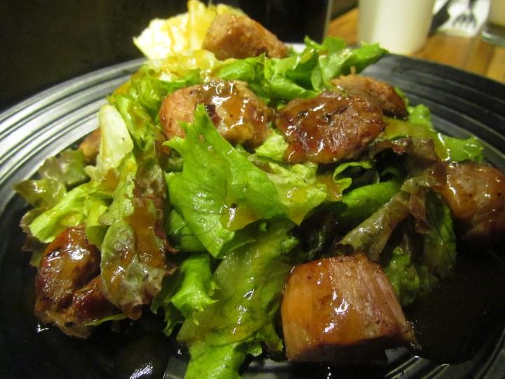 Tawa braised masala pork with bbq pineapple glaze and apple salad