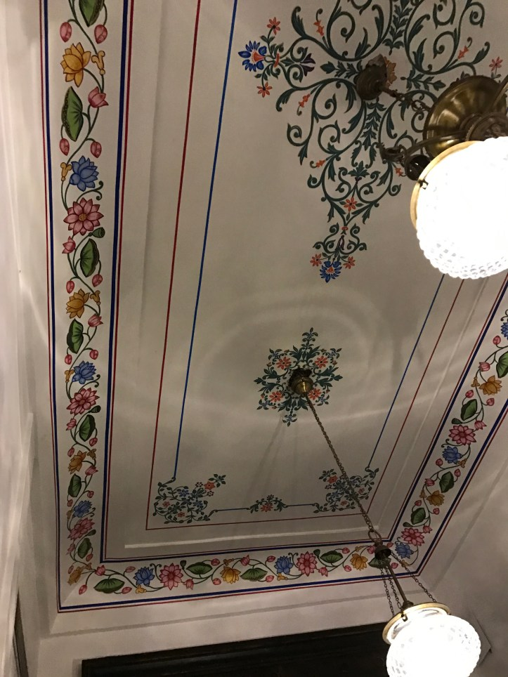 ceiling near the lobby