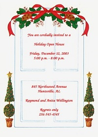 party invitations wording for welcome home Christmas celebration