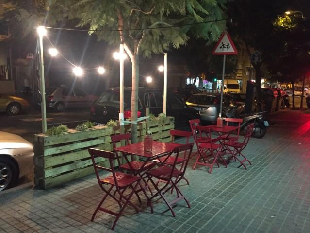 nut gastrobar terraza del restaurante