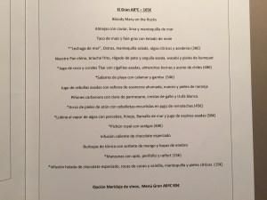 carta y menu restaurante abac 2015 2016