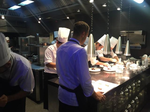 cocina del restaurante abac 2015 2016
