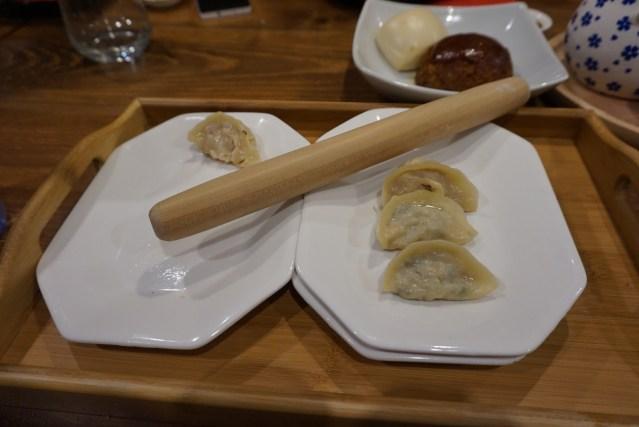 mian restaurante guotie o gyozas de verduras