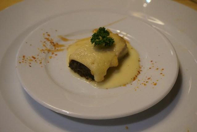 restaurante roma canelón de verduras
